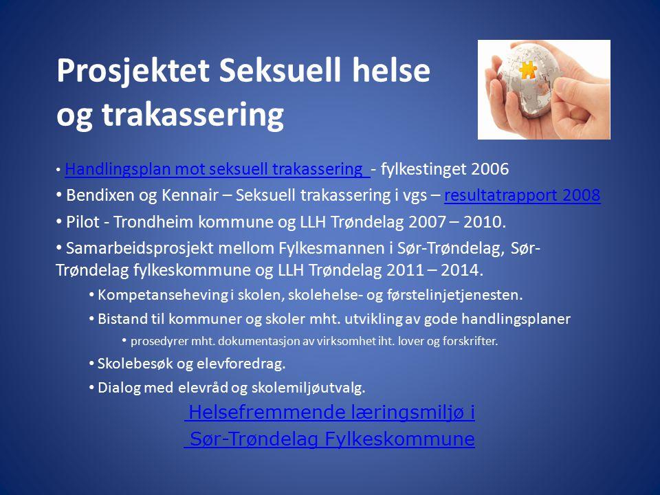 Prosjektet Seksuell helse og trakassering