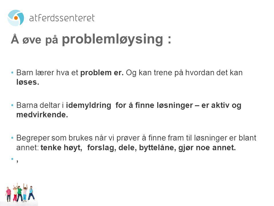 Å øve på problemløysing :