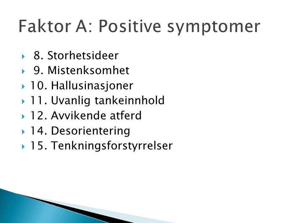 Faktor A: Positive symptomer