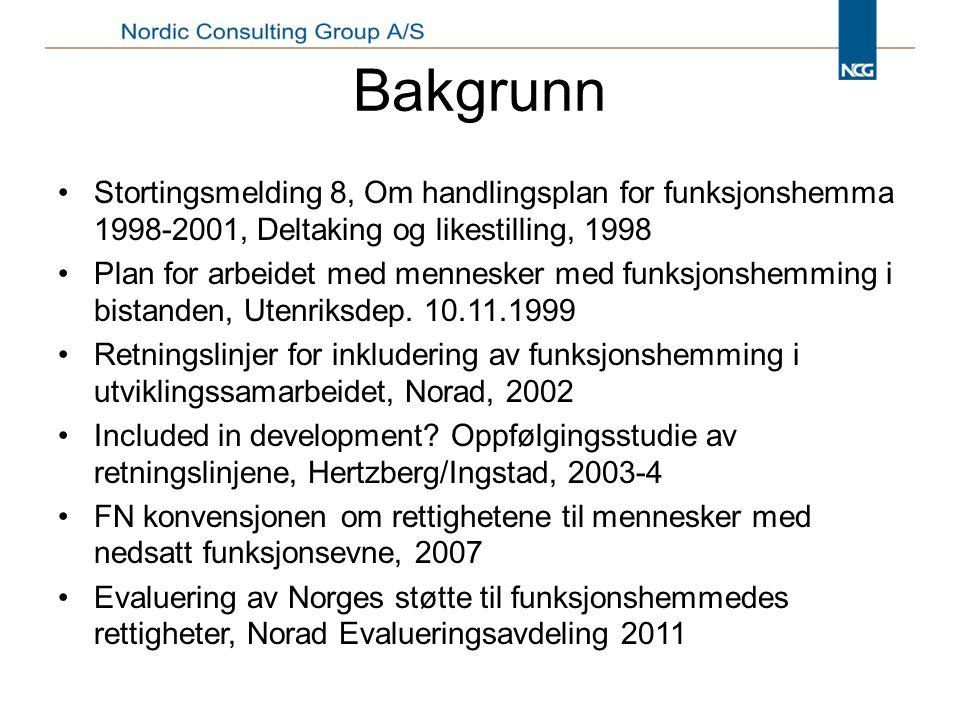 Bakgrunn Stortingsmelding 8, Om handlingsplan for funksjonshemma 1998-2001, Deltaking og likestilling, 1998.