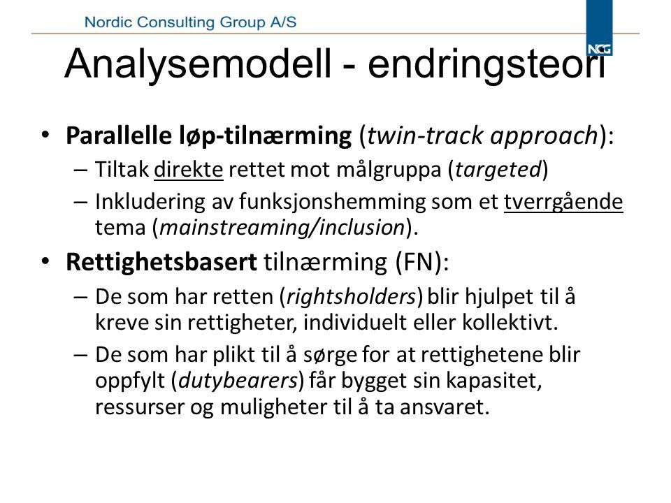 Analysemodell - endringsteori