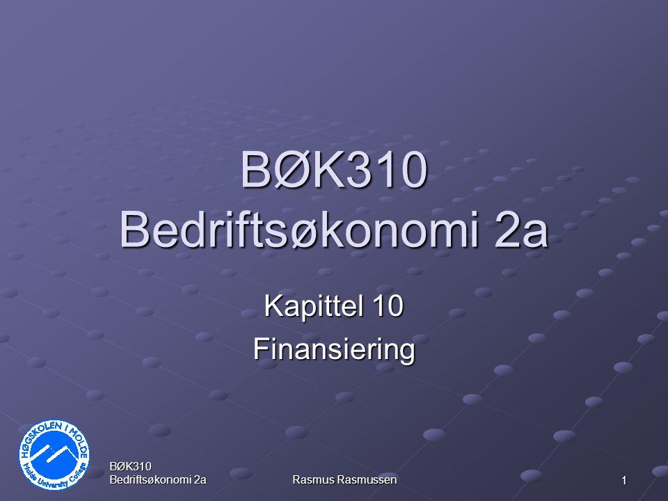 Kapittel 10 Finansiering