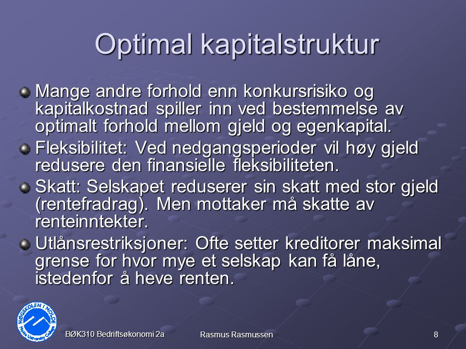 Optimal kapitalstruktur