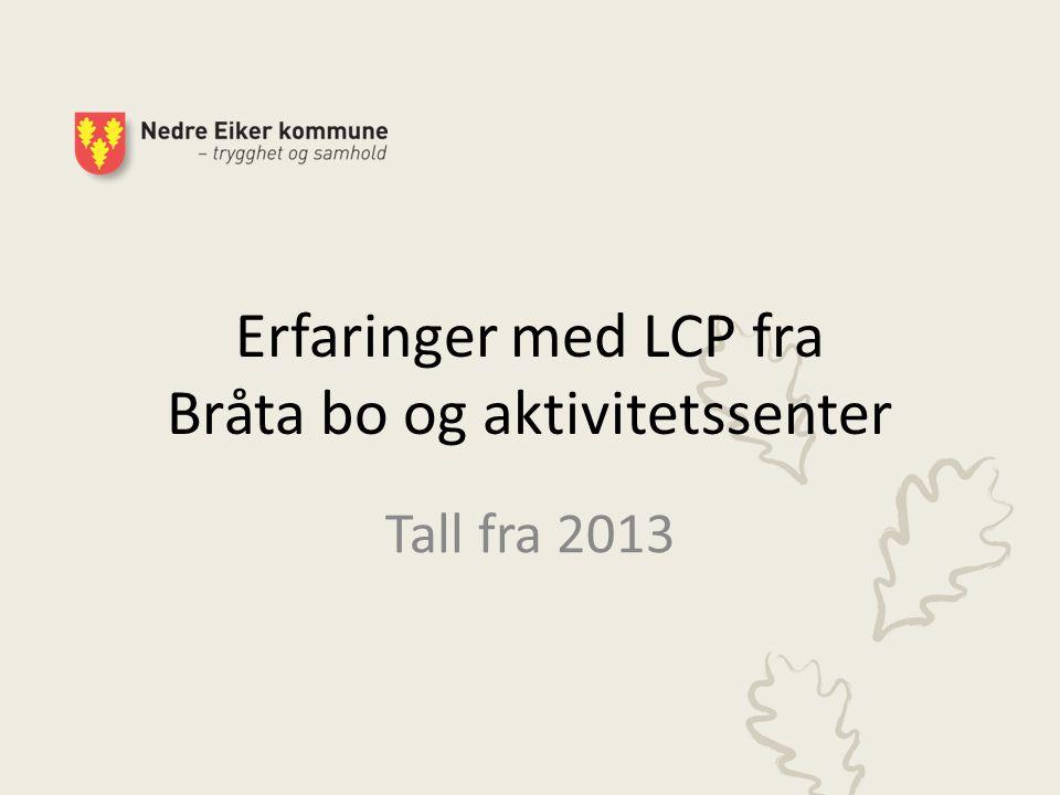 Erfaringer med LCP fra Bråta bo og aktivitetssenter
