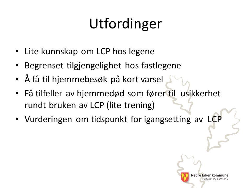 Utfordinger Lite kunnskap om LCP hos legene