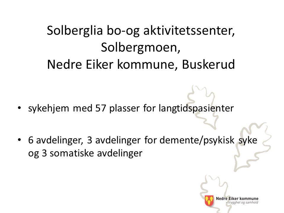 Solberglia bo-og aktivitetssenter, Solbergmoen, Nedre Eiker kommune, Buskerud