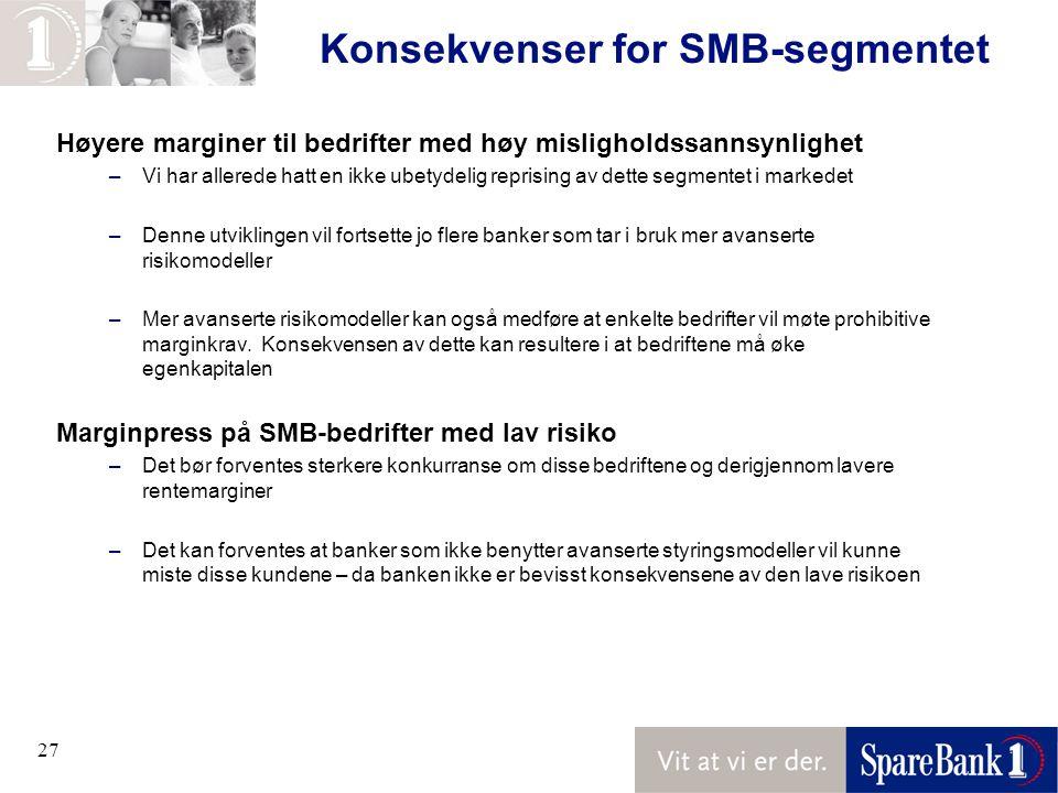 Konsekvenser for SMB-segmentet