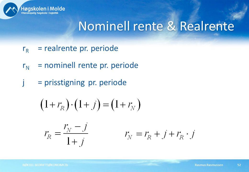 Nominell rente & Realrente
