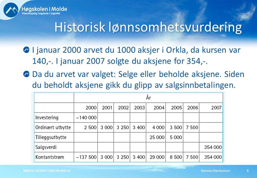 Historisk lønnsomhetsvurdering