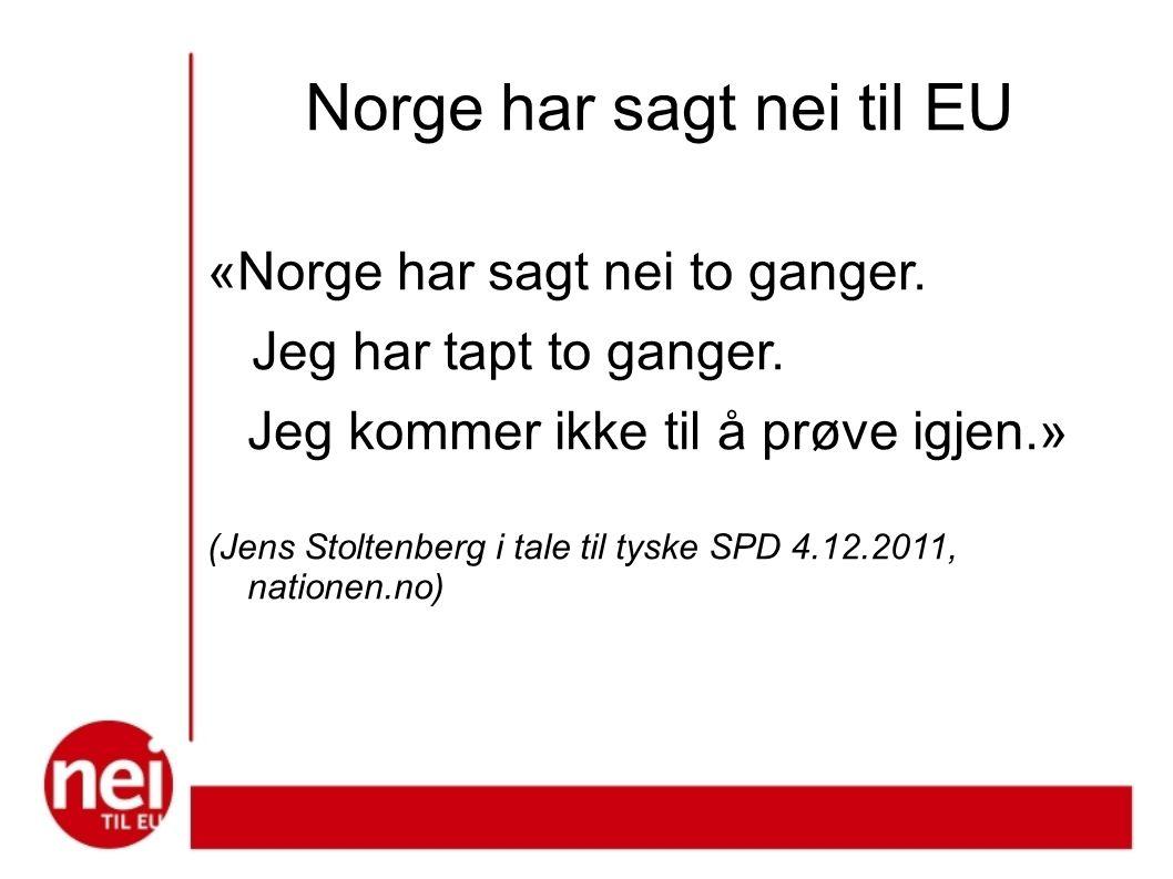 Norge har sagt nei til EU