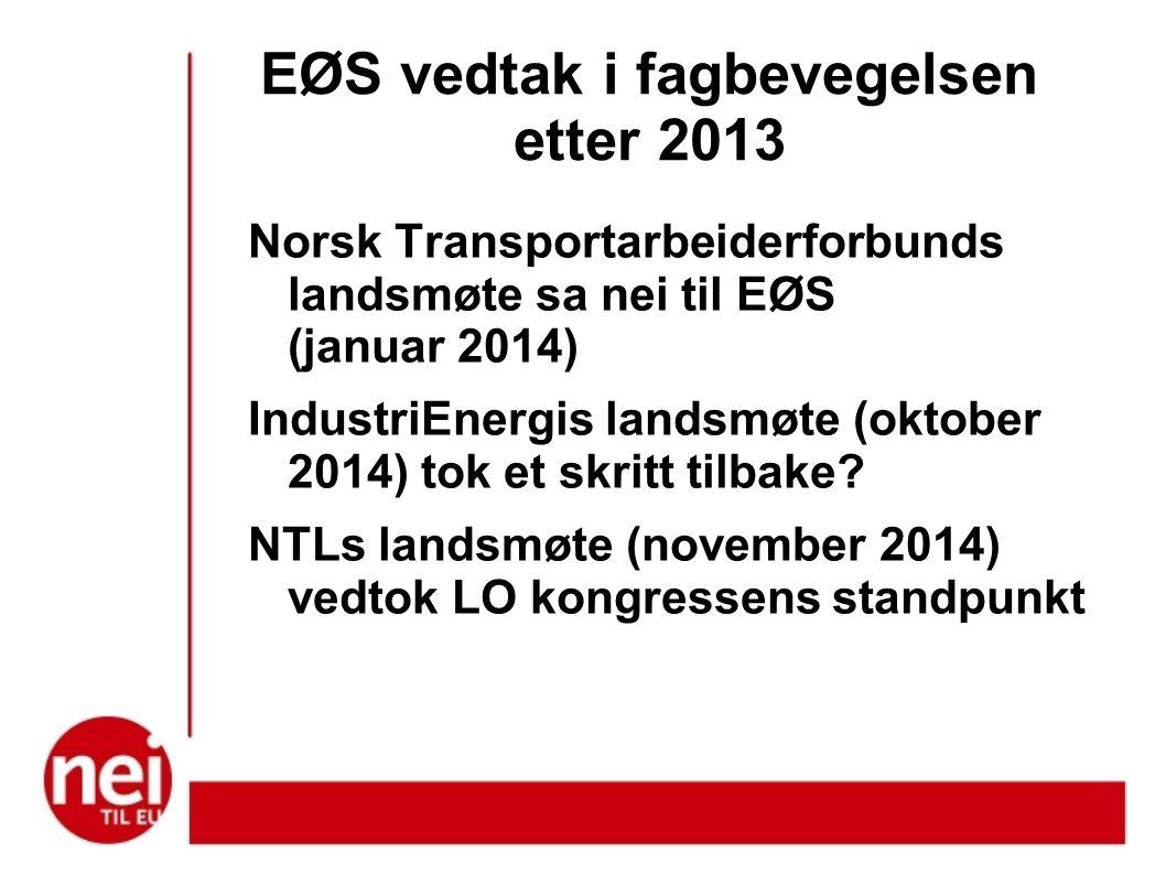 EØS vedtak i fagbevegelsen etter 2013