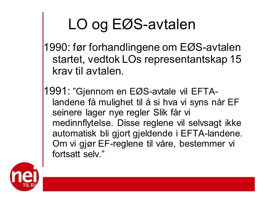 LO og EØS-avtalen