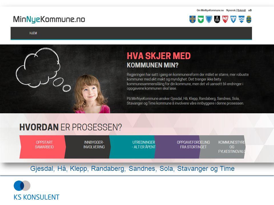 Gjesdal, Hå, Klepp, Randaberg, Sandnes, Sola, Stavanger og Time
