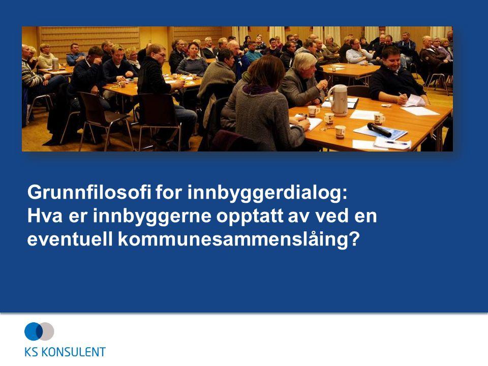 Grunnfilosofi for innbyggerdialog: Hva er innbyggerne opptatt av ved en eventuell kommunesammenslåing
