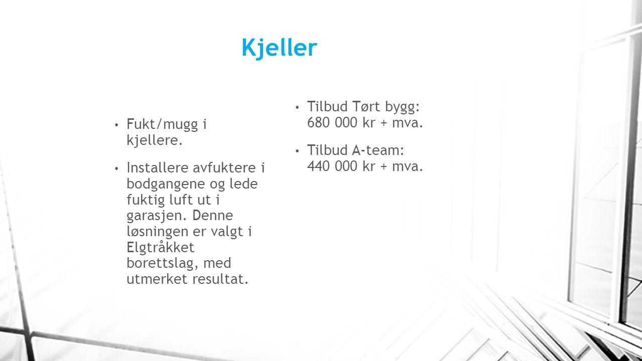 Kjeller Tilbud Tørt bygg: 680 000 kr + mva.