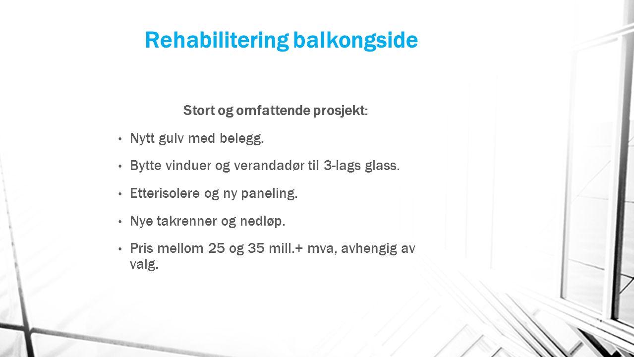 Rehabilitering balkongside