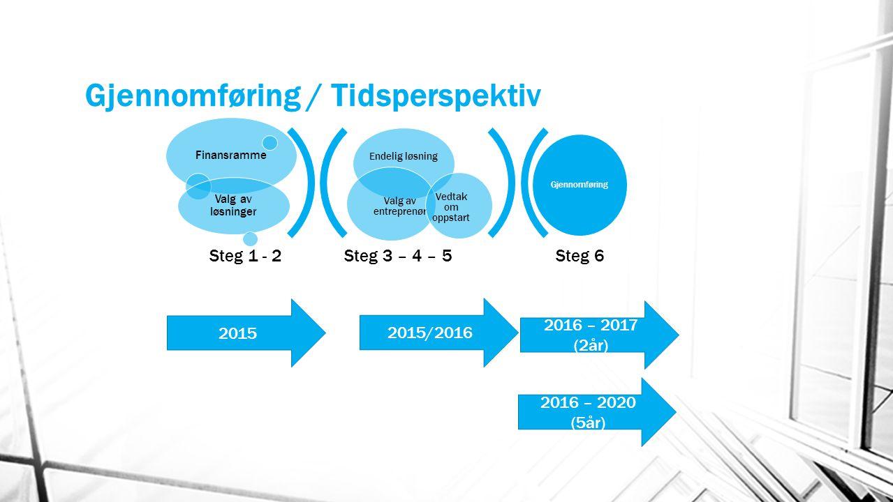 Gjennomføring / Tidsperspektiv