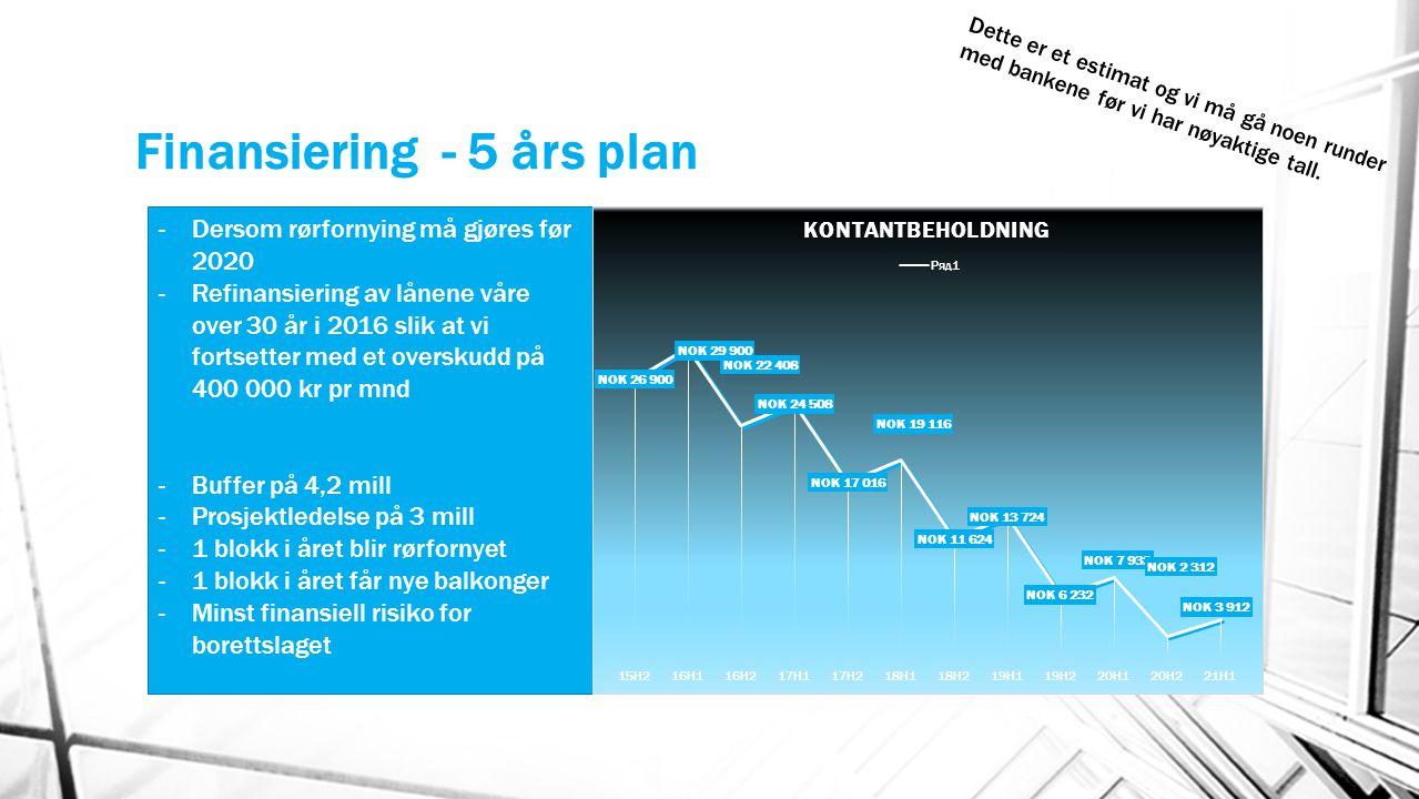 Finansiering - 5 års plan