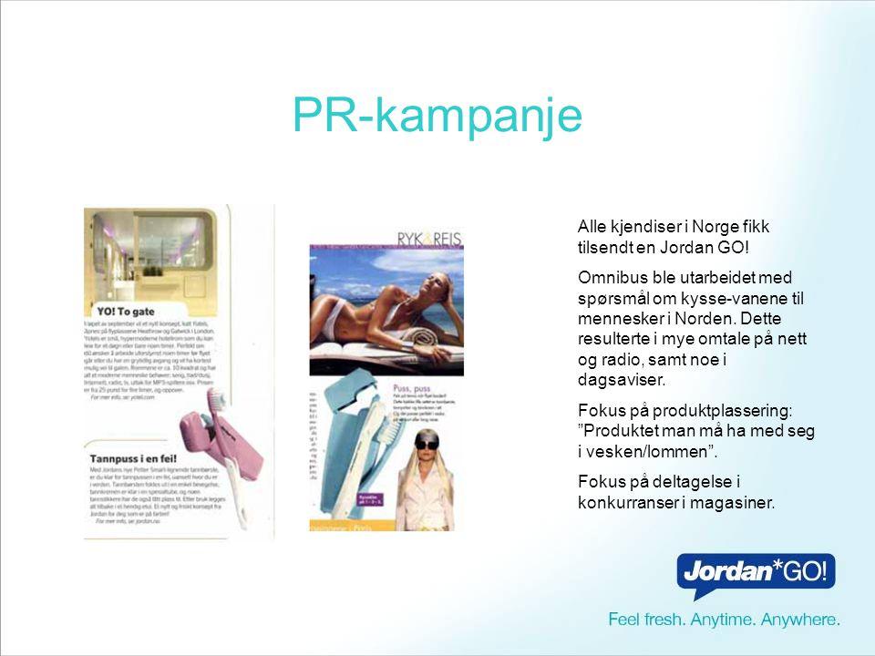 PR-kampanje Alle kjendiser i Norge fikk tilsendt en Jordan GO!