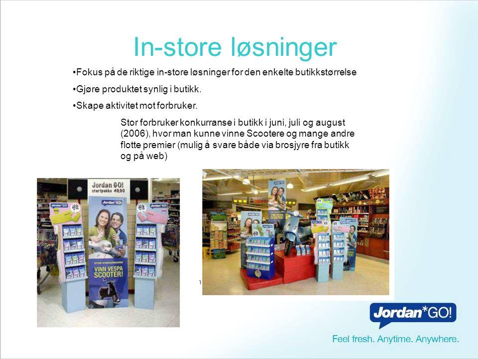 In-store løsninger Fokus på de riktige in-store løsninger for den enkelte butikkstørrelse. Gjøre produktet synlig i butikk.