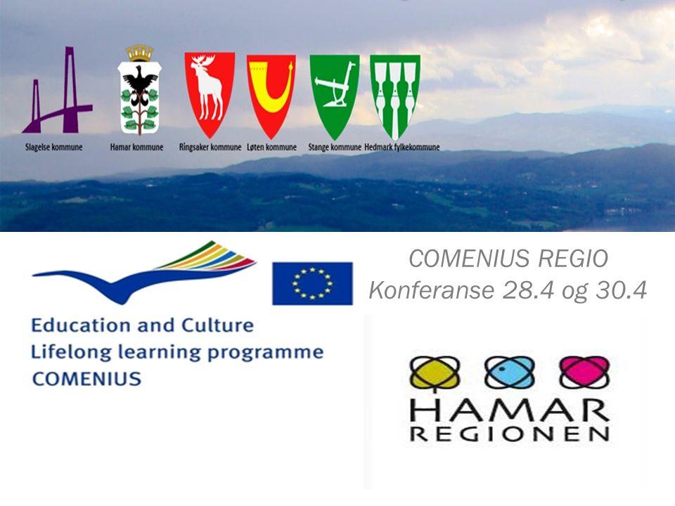 COMENIUS REGIO Konferanse 28.4 og 30.4