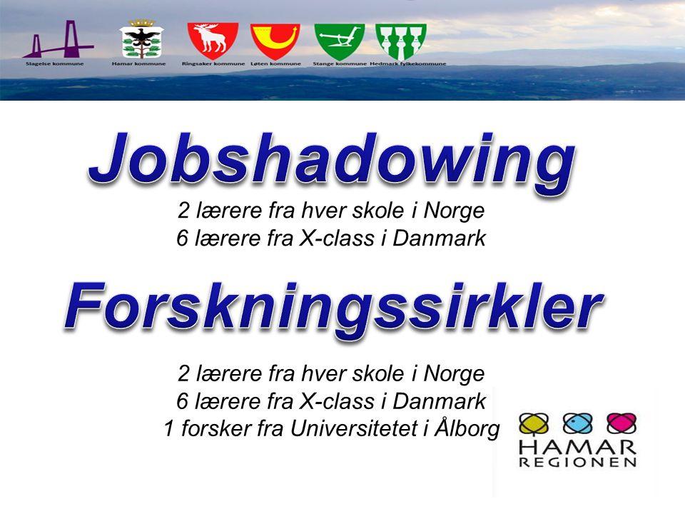 Jobshadowing Forskningssirkler 2 lærere fra hver skole i Norge