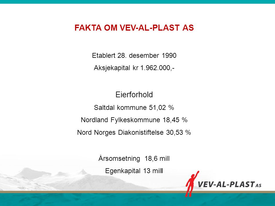 FAKTA OM VEV-AL-PLAST AS