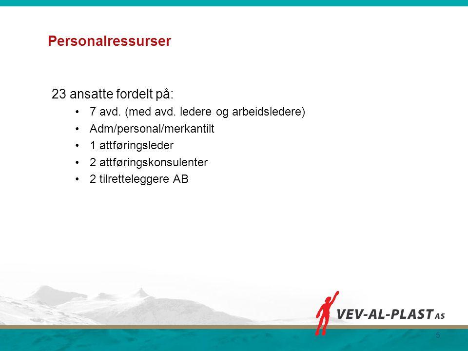 Personalressurser 23 ansatte fordelt på: