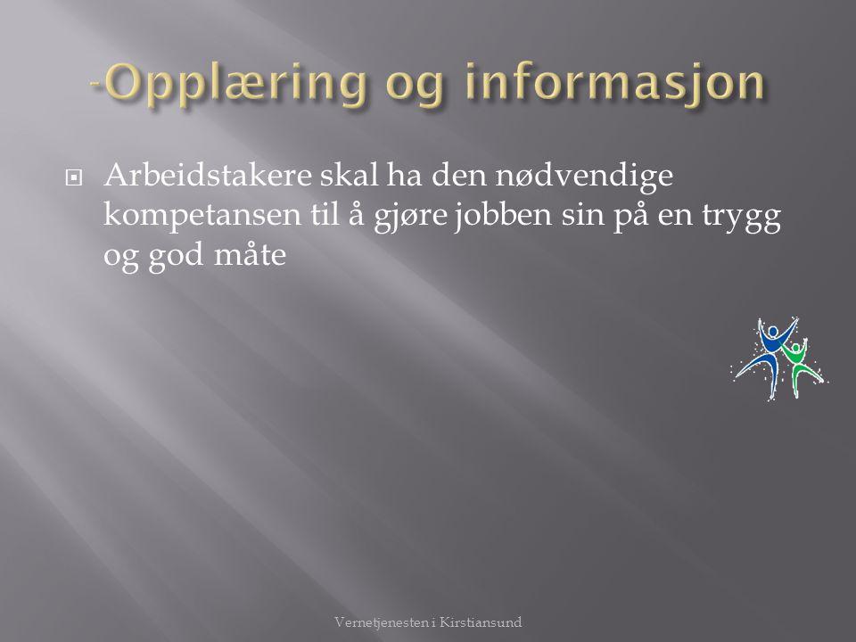 -Opplæring og informasjon