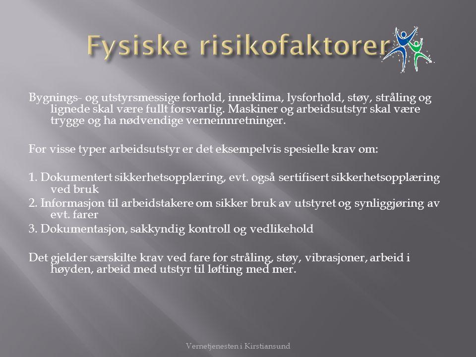 Fysiske risikofaktorer