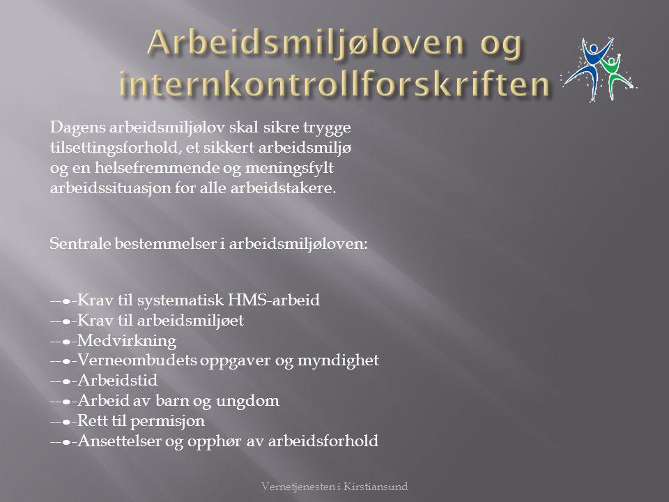 Arbeidsmiljøloven og internkontrollforskriften