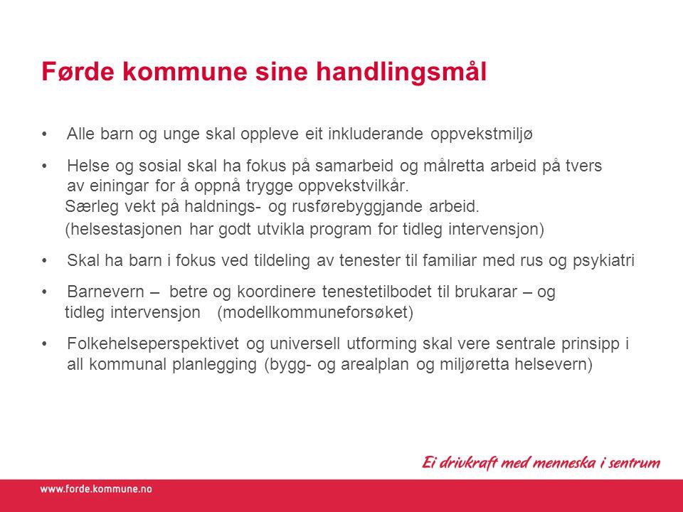 Førde kommune sine handlingsmål