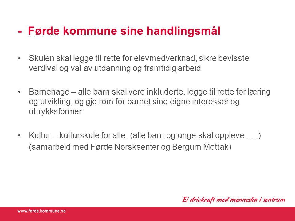 - Førde kommune sine handlingsmål