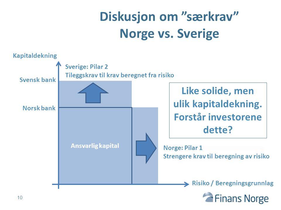 Diskusjon om særkrav Norge vs. Sverige