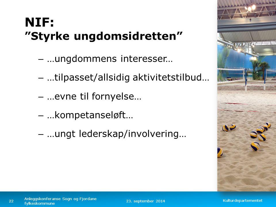 NIF: Styrke ungdomsidretten