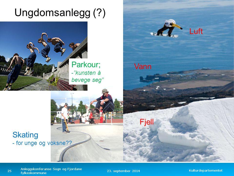 Ungdomsanlegg ( ) Luft Parkour; Vann Fjell Skating
