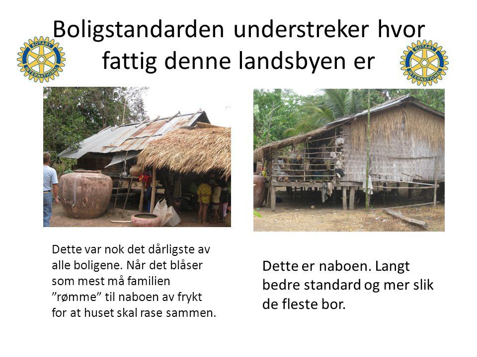 Boligstandarden understreker hvor fattig denne landsbyen er