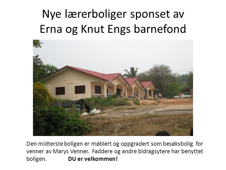 Nye lærerboliger sponset av Erna og Knut Engs barnefond