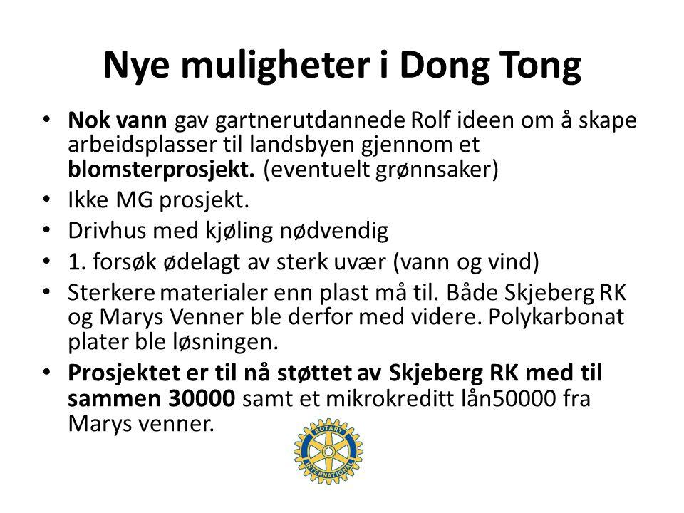 Nye muligheter i Dong Tong