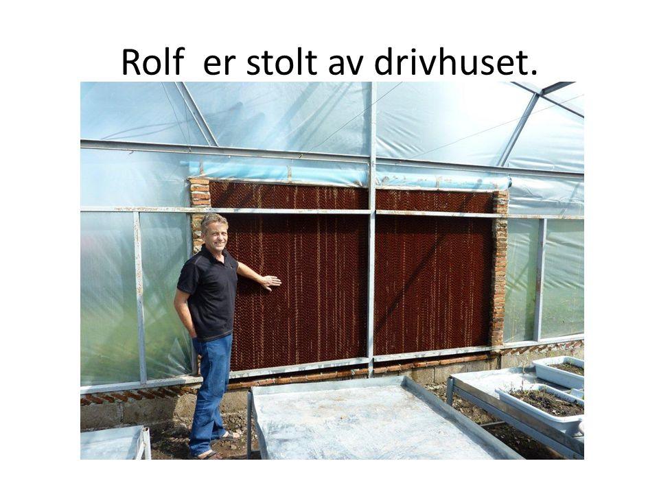 Rolf er stolt av drivhuset.