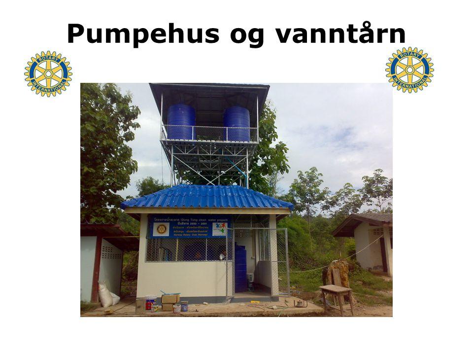 Pumpehus og vanntårn