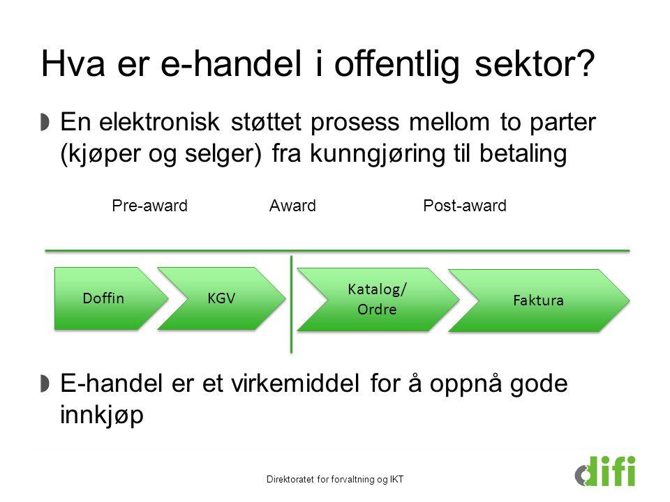 Hva er e-handel i offentlig sektor