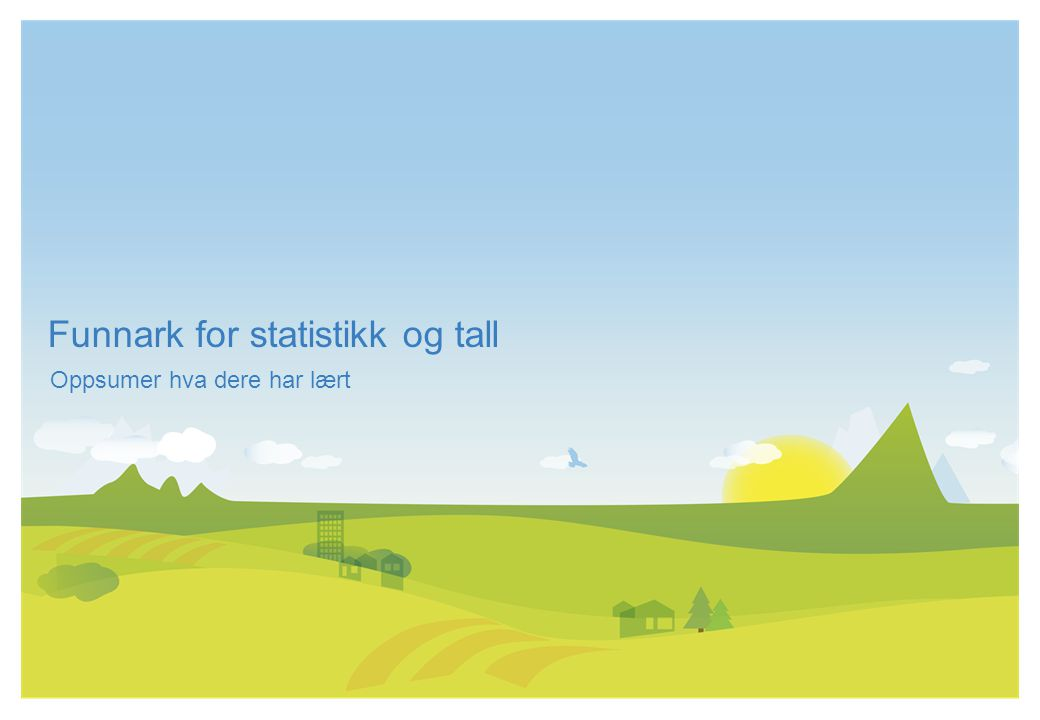 Funnark for statistikk og tall