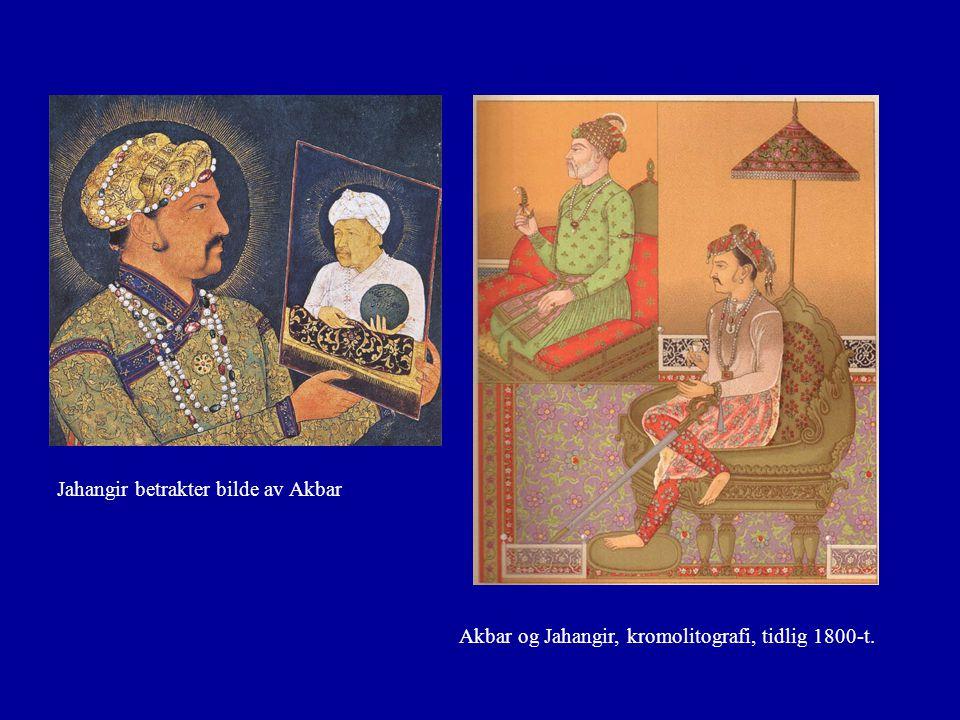 Jahangir betrakter bilde av Akbar