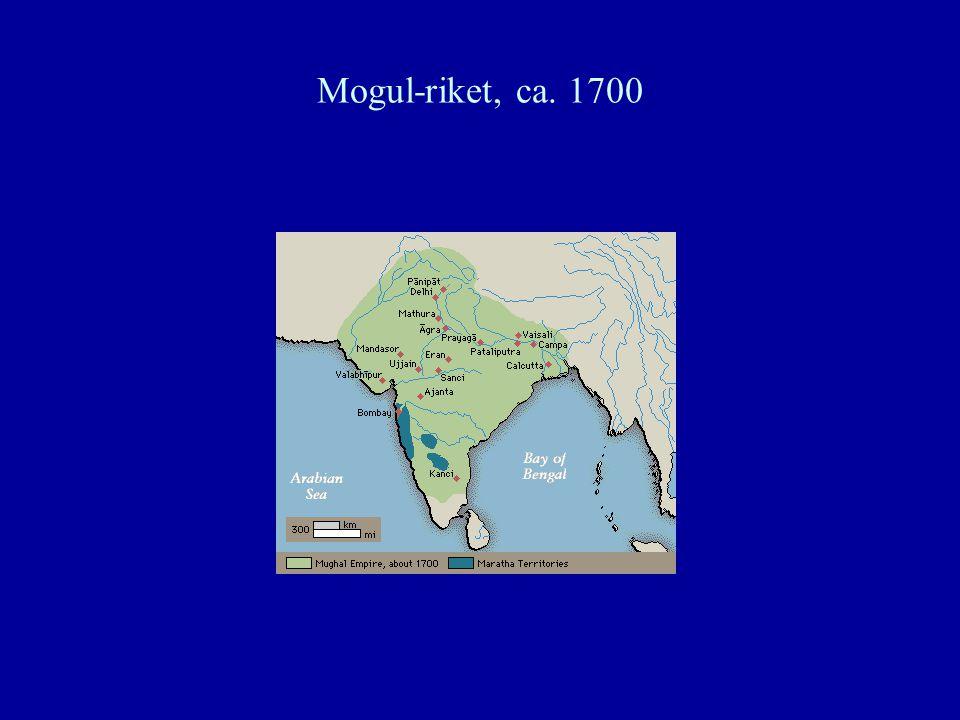 Mogul-riket, ca. 1700