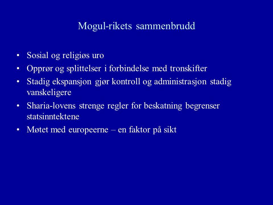 Mogul-rikets sammenbrudd
