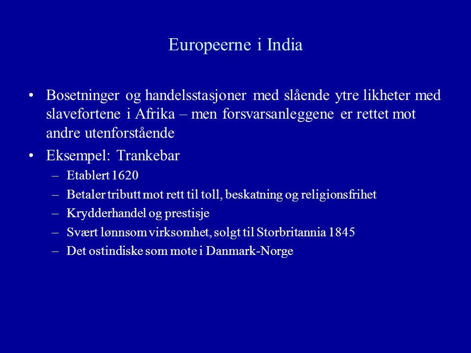 Europeerne i India