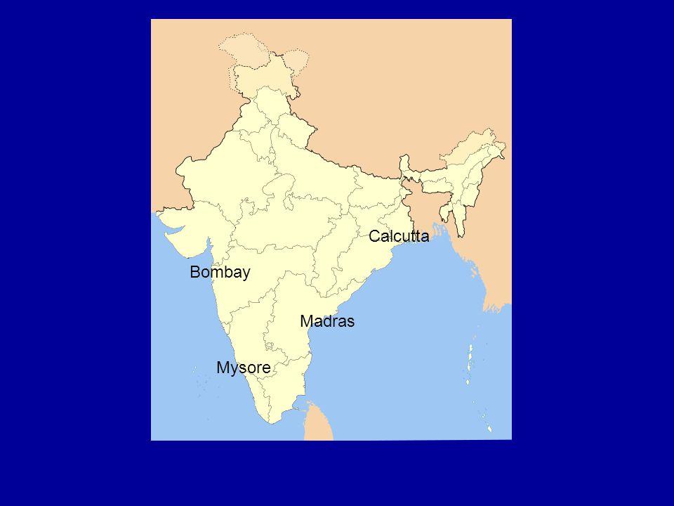 Calcutta Bombay Madras Mysore