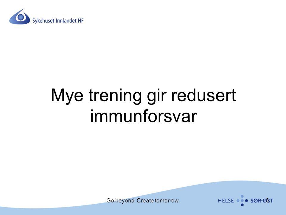 Mye trening gir redusert immunforsvar