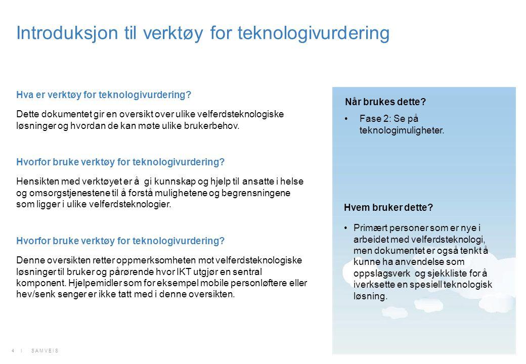 Introduksjon til verktøy for teknologivurdering
